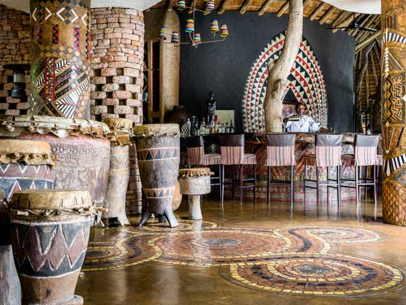 African-themed bar, Singita pamushana