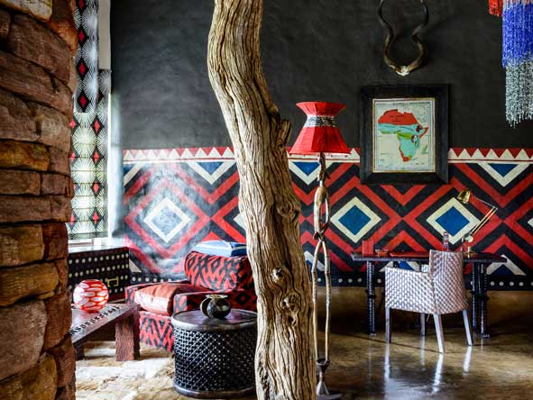 Bold African prints and colours, zimbabwe