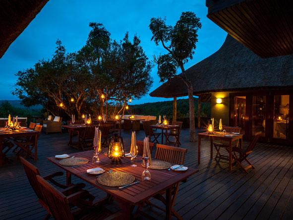outdoor dining at Kichaka