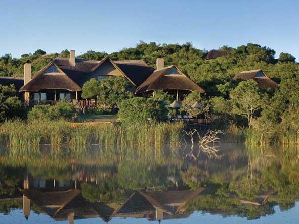 Kichaka Private Game Lodge overlooking a waterhole