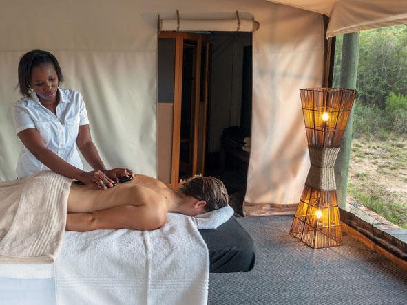 Spa treatment at Kichaka Private Lodge