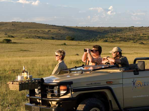 Open air game drive vehicles