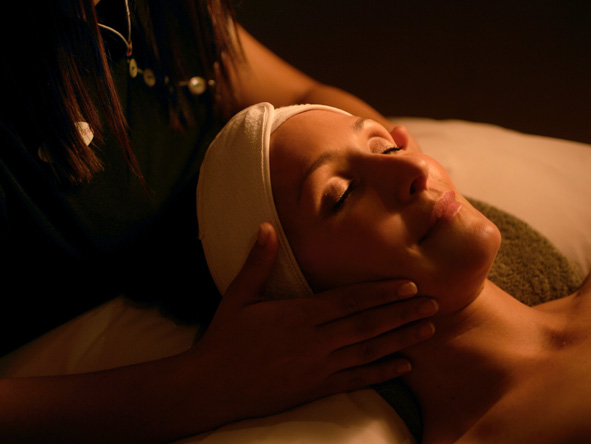 facial at the Teremok Marine spa