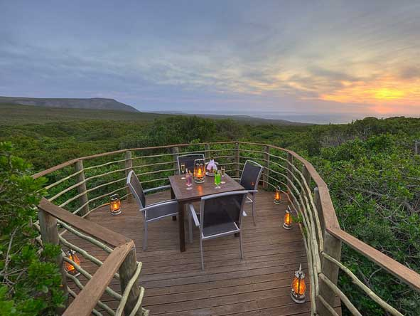 private deck dining experience, Grootbos