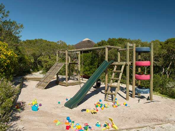 children's playground at Grootbos Garden Lodge