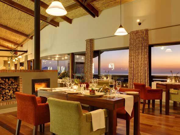 Fine dining, Grootbos forest lodge