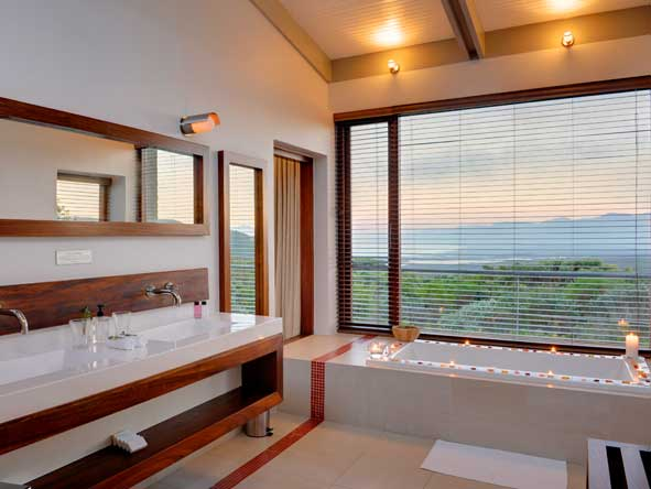 elegant en-suite bathrooms, grootbos forest lodge