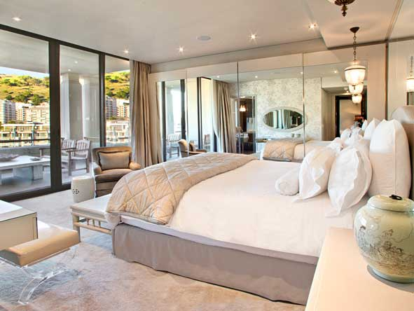 bedroom suite with private terrace