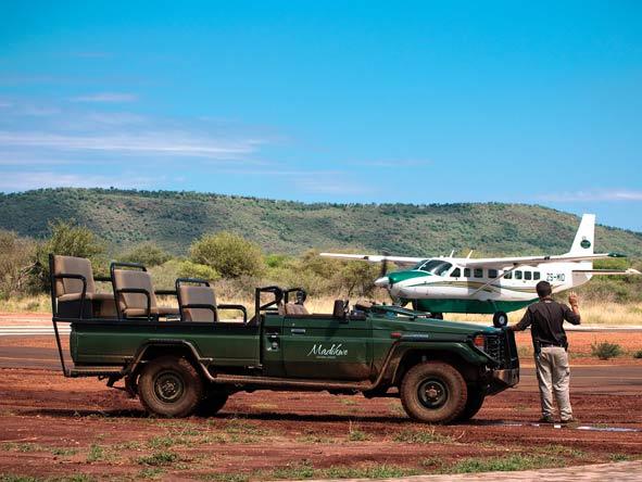 Charter flight to Madikwe