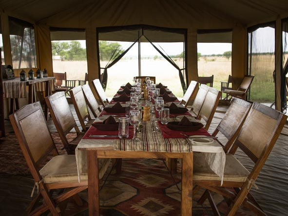 dining tent at Kimondo migration camp