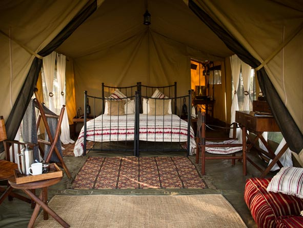 tented bedroom suite