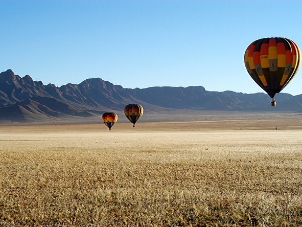 hot air ballooning, namibia