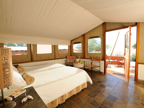 Sossusvlei Lodge, safari tents
