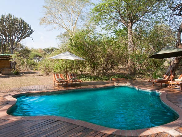 Mvuu Lodge, swimming pool