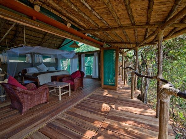 bedroom deck, mvuu lodge