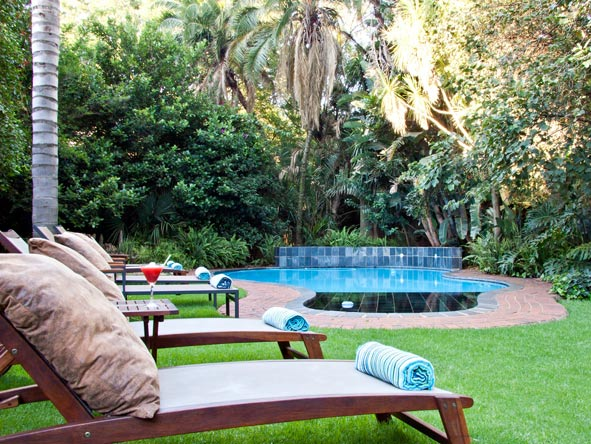 The gardens at African Rock Hotel