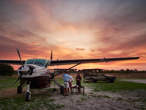 Chartered safari plane, Okavango delta