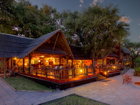 Belmond Khwai River Lodge, main lodge
