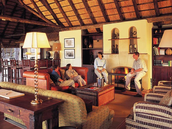 Belmond Khwai River Lodge, main lounge