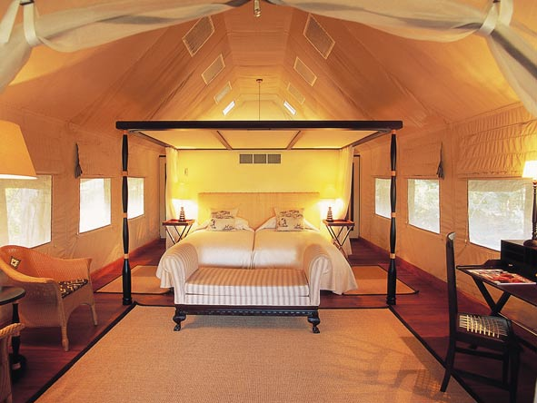 luxurious safari tented suites