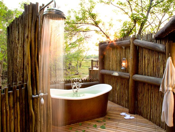 luxurious outdoor bathroom