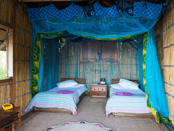 double room chalet, mumbo island camp