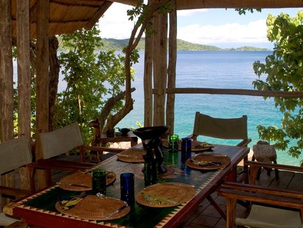 dining area, lake malawi