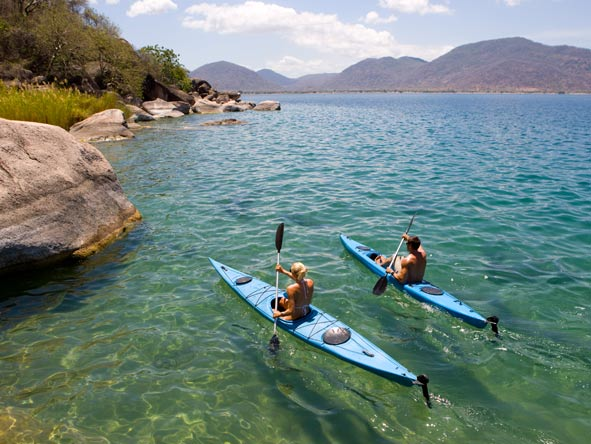 kayaking, lake malawi
