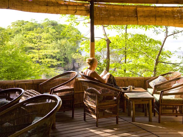 outdoor deck, mumbo island camp