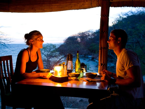 mumbo island camp, romantic dinner