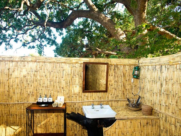 Outdoor bathroom, mchenja camp