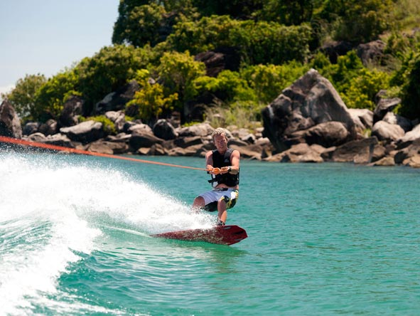 skiing on lake malawi