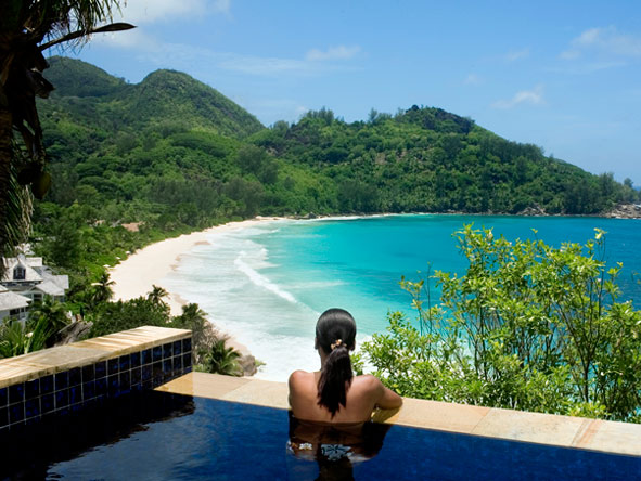 view over the private bay, Banyan Tree