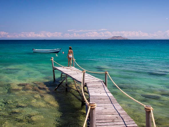 Private jetty, lake malawi