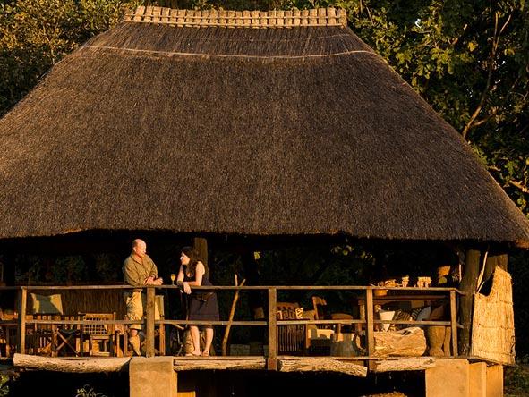 kakuli bush camp, outside deck