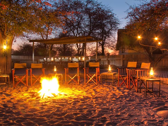 Deception Valley Lodge, campfire