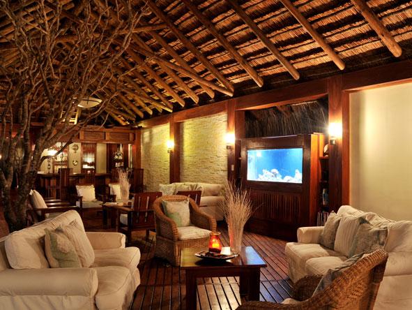 tropical fish tank at Machangulo Beach Lodge