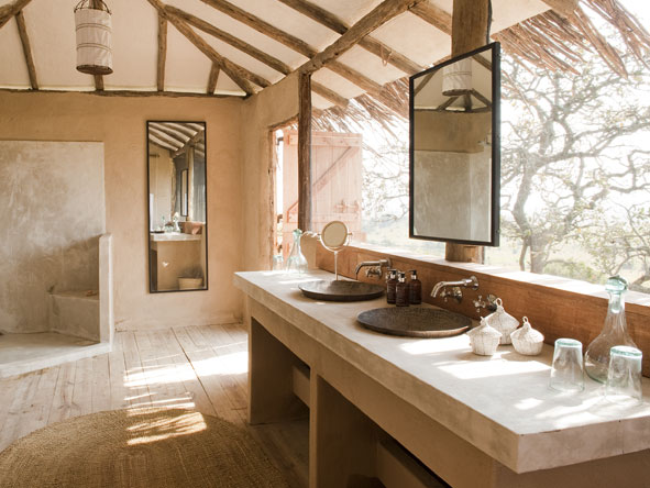 luxurious en-suite bathroom, Mkombe's House Lamai