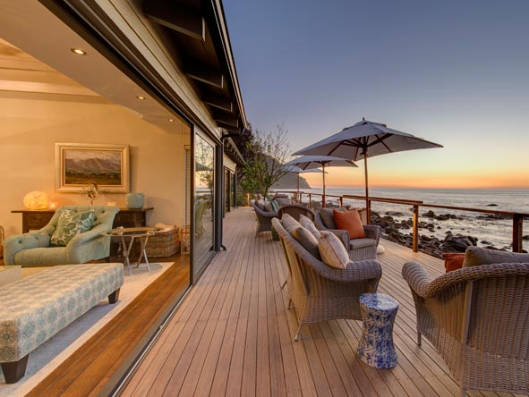 Tintswalo Atlantic, outdoor deck