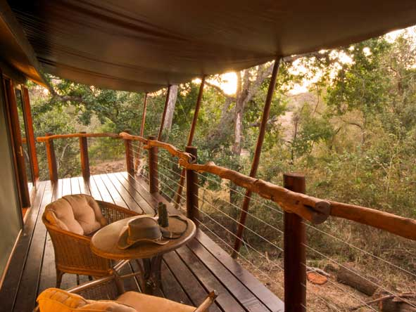 Kapama Buffalo Camp, private tented suite