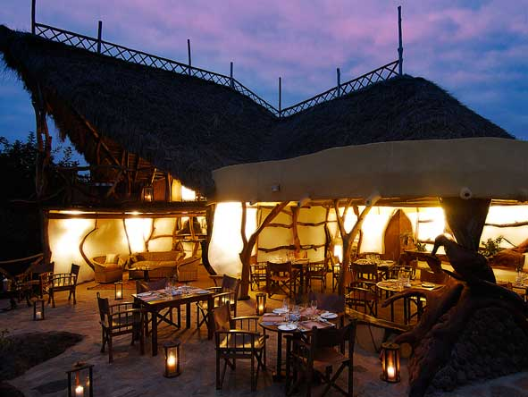 Satao Elerai Camp, outdoor dining