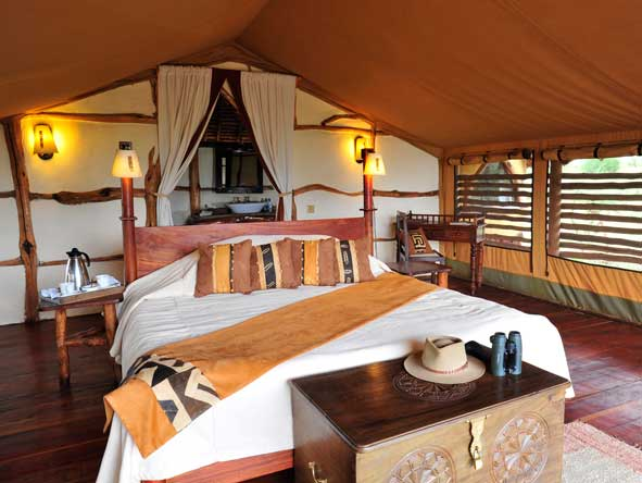 Satao Elerai Camp, tented bedroom