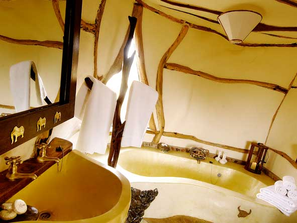 Satao Elerai Camp, en-suite bathroom
