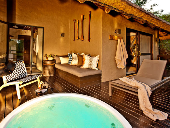 Sabi Sabi Little Bush Camp, private deck and plunge pool