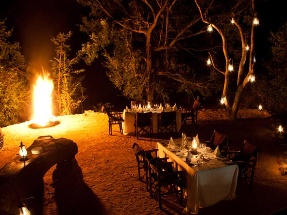 Sabi Sabi Little Bush Camp, outdoor boma