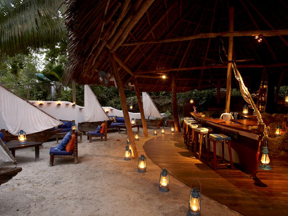 Matemwe Lodge, beach bar