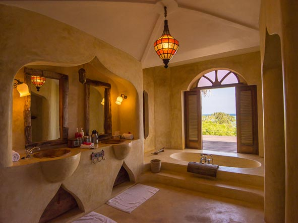 Matemwe Retreat, bathroom