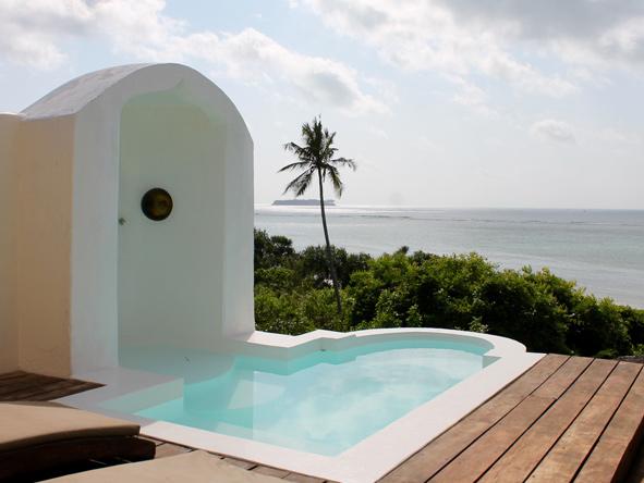 Matemwe retreat, plunge pool