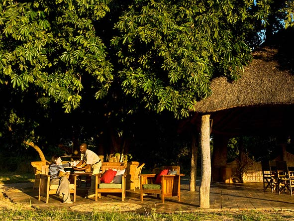 Nsolo Bush Camp, sunset drinks