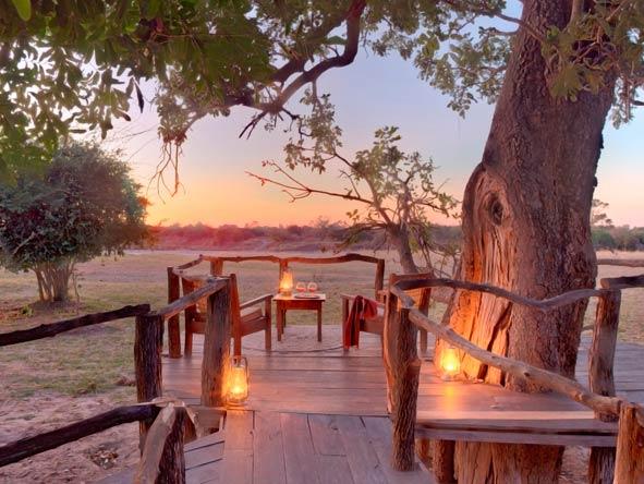 Nsolo Bush Camp, tree deck